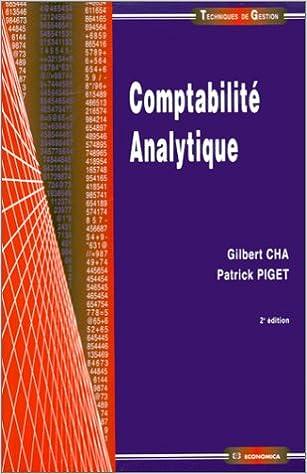 Comptabilité analytique pdf