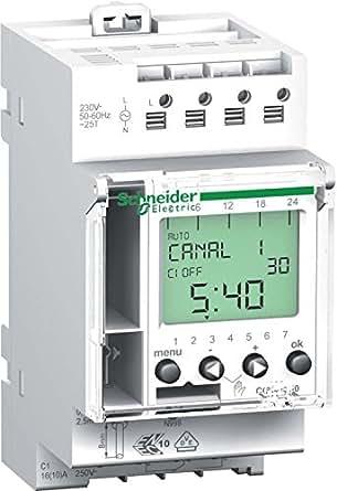 Schneider Electric CCT15720 Conmutador Intuitivo, 1 Canal, 24 Horas, 7 Días