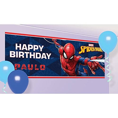 Amscan 9902780 Spider-Man Party Personalised Banner