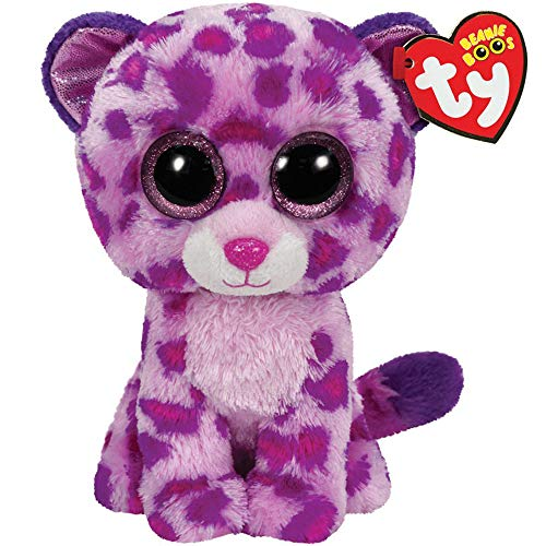 Plush Leopard - Ty Beanie Boos 10 Quot 25cm Glamour The Leopard Plush Medium Soft Big Eyed Stuffed Animal Collection - Guide Cinder Size Yellow Bear Dragon Dogs Goat Rainbow Panda Activiti from Unknown