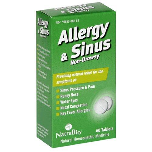 Allergy Sinus 60 tabs, NatraBio (Natra-Bio)