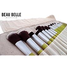 Beau Belle Makeup Brushes - 23pcs Makeup Brush Set - Natural Bamboo Makeup Brushes - Professional Makeup Brushes - Make Up Brush Sets (Bamboo Green)