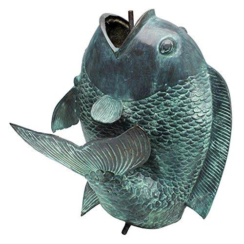 Design Toscano Giant Asian Dancing Fish Cast Bronze Spitting Garden Statue