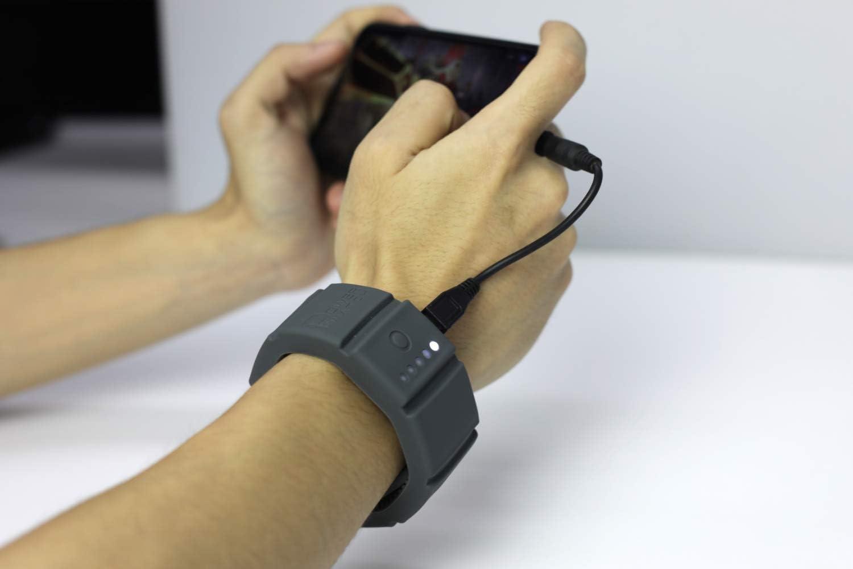 Omax muñeca Cargador de batería Banco de la energía pulsera ajustable funda con 1500 mAh energía de batería cargador carga todos los Smartphones: Amazon.es: Electrónica