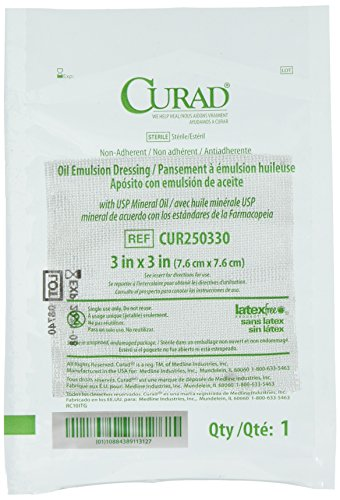 Curad Sterile Oil Emulsion Gauze Dressing 3