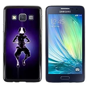 YiPhone /// Prima de resorte delgada de la cubierta del caso de Shell Armor - Aire Bender Silueta - Samsung Galaxy A3