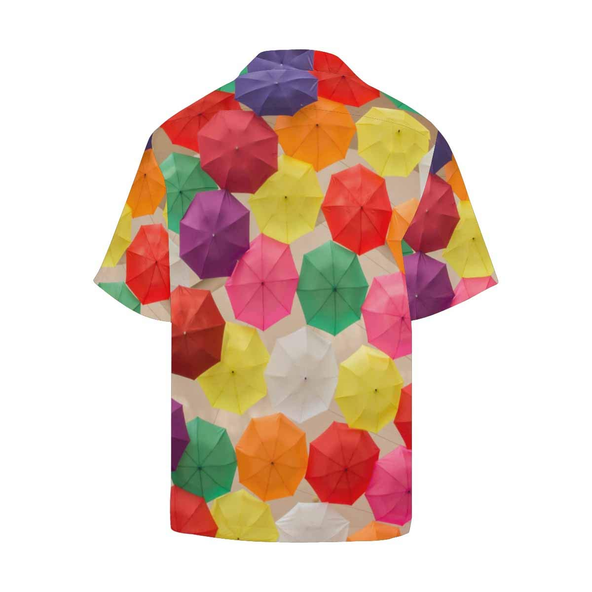 InterestPrint Mens Casual Loose Fit Colorful Spiral Shirt Short Sleeve Button Up Casual Beach Party Tops for Men