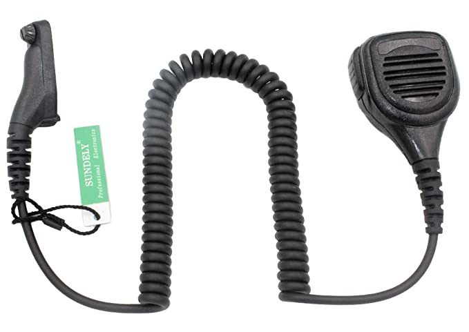 SUNDELY Waterproof Heavy Duty Remote Mic with Speaker For Motorola Radios  DGP6150 APX6000 APX7000 XPR6350 XPR6550 DP3400