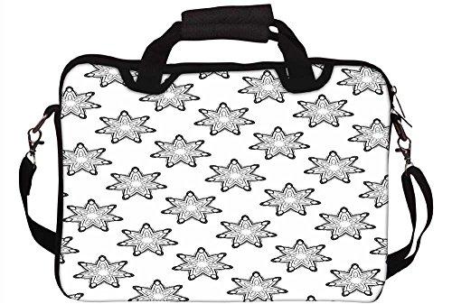 Snoogg grau Sterne Laptop Netbook Computer Tablet PC Schulter Case mit Sleeve Tasche Halter für Apple iPad/HP TouchPad Mini 210/Acer Aspire One und die meisten 24,6cm 25,4cm 25,7cm 25,9cm Zoll Net