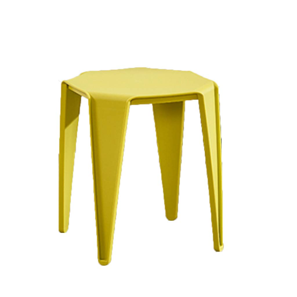 Yellow FXNN Stool - Home Thickening Chair Stool Square Stool (color   Pink)