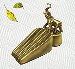 Amazon Com Brass Decorative Elephant Door Stopper Door