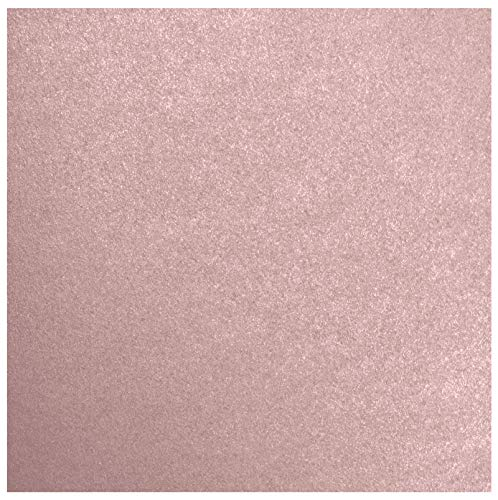 12 x 12 Cardstock - Misty Rose Metallic - Sirio Pearl (50 Qty.) | Perfect for Crafting, Invitations, Scrapbooking, Art Projects, Menus, Brochures | Printable | 105lb. Cover Weight | ()
