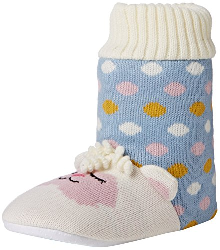 Aroma Home Shoes Lamb Knitted, Women's Hi-Top Slippers, Blue (Blue), M UK (40/41 EU) Blue (Blue)