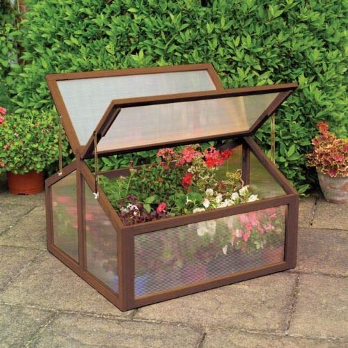 GoodGoods LLC Double Box Garden Wooden Green House Portable Raised Plants Bed Protection Cold Fram New by GoodGoods LLC (Image #1)