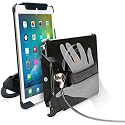 CTA Digital Anti-Theft Case with Built-In Grip Stand for iPad Air (1-2), iPad (2017), and iPad Pro 9.7 PAD-ACGA