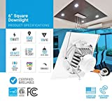 PARMIDA 12-Pack 6 inch Dimmable LED Square Recessed