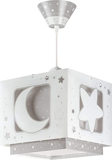 Dalber 63232E - Lámpara Colgante, Diseño Luna, Color Gris: Amazon ...