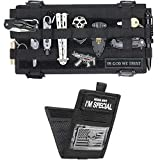 WYNEX Molle Visor Panel Organizer, Tactical Car Sun Visor Cover Molle Webbing Compatible Elastic Slots Vehicle Visor Storage Holder Pouch with 3 Elastic Strap Compatible F150 F550 Tundra Sibaru