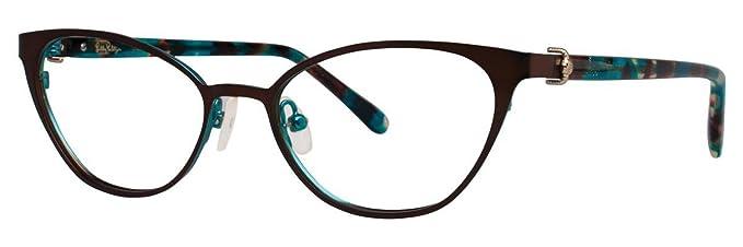 5c5b7a24e42c LILLY PULITZER Eyeglasses MORADA Nutmeg 48MM at Amazon Men s ...