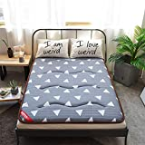 YQ WHJB Cotton Tatami Mattress,Mattress Pads Non-Slip Foldable Overfilled Dorm Room Multifunction Breathable Mattress-Toppers-B 90x200cm(35x79inch)