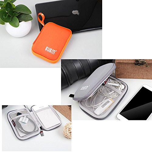 BUBM Enclosure 2.5'' USB 3.0 Hard Drive Bag Power Bank Portable Charge Travel Case, 5.9'', Orange (QYD-S-02) by BUBM (Image #6)