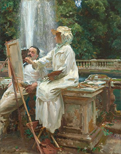 John Singer Sargent - The Fountain, Size 18x24 inch, Gallery Wrapped Canvas Art Print Wall décor