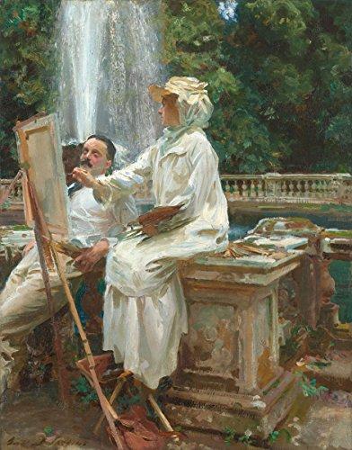 John Singer Sargent - The Fountain, Size 18x24 inch, Canvas Art Print Wall décor