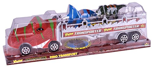 Wild Republic T-Rex Truck, Gifts for Kids, Imaginative Play Toy, Triceratops & Tyrannosaurus