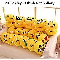 Kashish Gift Gallery Yellow Emoji Smiley (Set of 20)