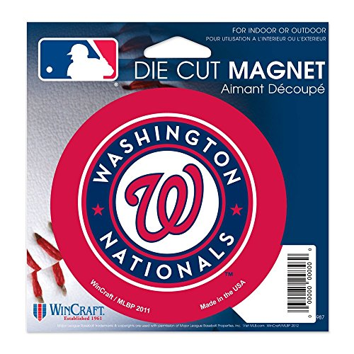 Washington Nationals Official MLB 4.5 inch x 6 inch Car Magnet by Wincraft (Collectible Magnet)