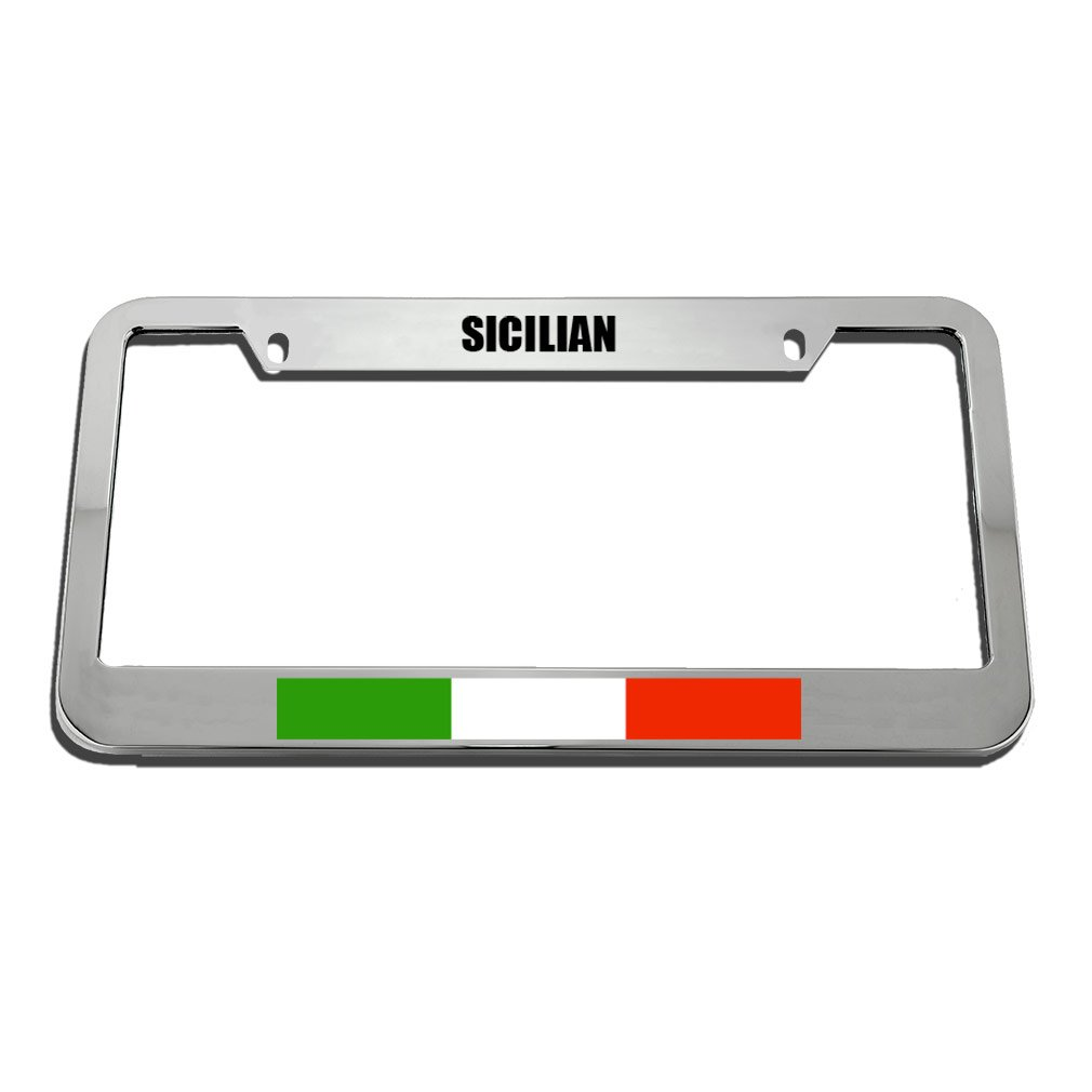 Speedy Pros Sicilian Italian Italy Sicily Country License Plate Frame Tag Holder