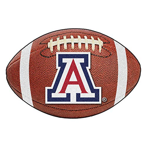(FANMATS NCAA University of Arizona Wildcats Nylon Face Football Rug)