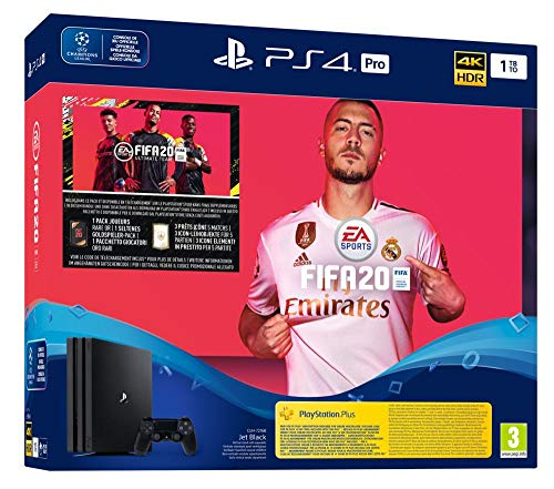 Sony PS4 Pro + FIFA 20 + Voucher Black 1000 GB Wi-Fi PS4 Pro + FIFA 20 + Voucher, PlayStation 4 Pro, Black, 8196 MB…