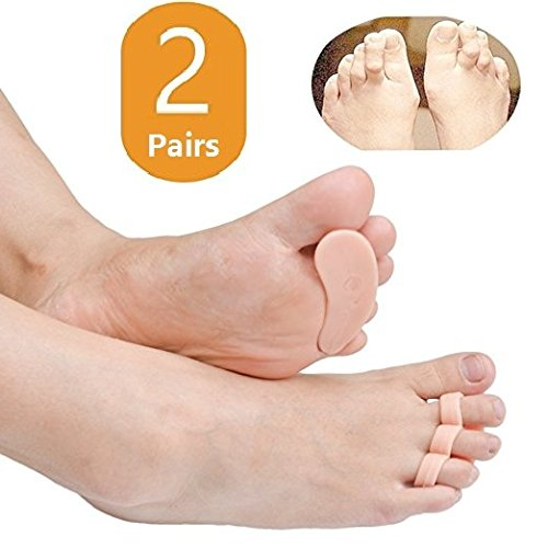 Duorui 2 Pairs Gel Hammer Toe Pads, Hammer Toe Cushion, Overlapping Toes, Toe Straightener, Pain Relief for Curled Toe … (Hammer Toe Straightener)