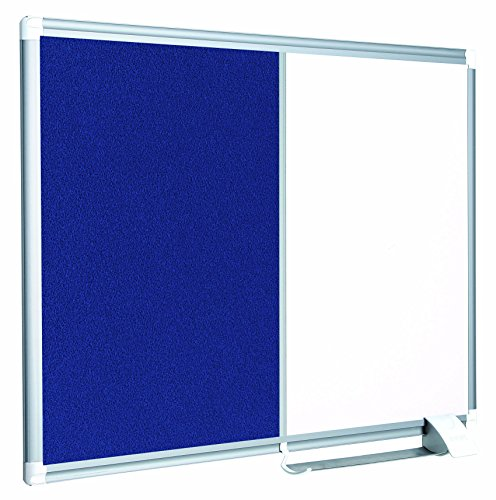 (MasterVision Combination Board, Magnetic Dry Erase Whiteboard and Blue Felt Bulletin Board, 24