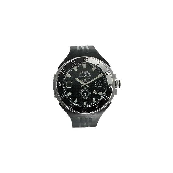 adidas, adp1790, hombre, caja de acero inoxidable, correa de negro, cronógrafo, correa de caucho reloj: Amazon.es: Relojes