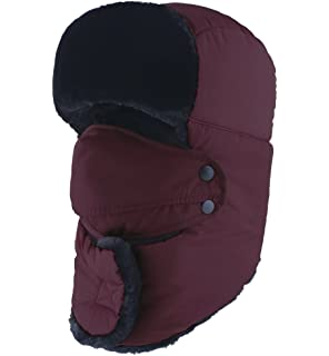 972b03bd613 HINDAWI Winter Hat Windproof Mask Ushanka Trapper Hats for Men and Women