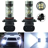 2 x 100W H10 9145 High Power CREE LED 6000K Super White Fog Light Lamp Bulbs
