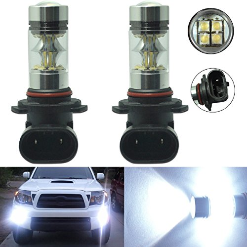 - 2 x 100W H10 9145 High Power CREE LED 6000K Super White Fog Light Lamp Bulbs