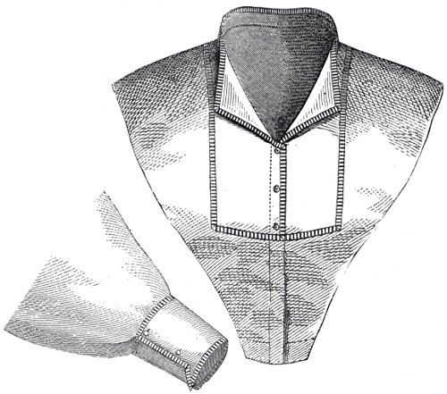 (1870 Collar & Sleeve with Percale Trim Pattern)