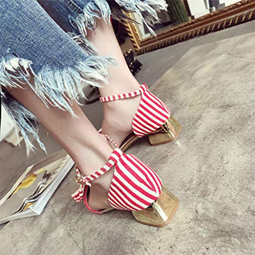 2019 Sandales Manadlian Pointues De La Peu Bow Rouge Filles Dames Chaussures Femmes Bouche Sauvages Rayées Profonde Plates Simples Ete Chaussons gAqqpT5