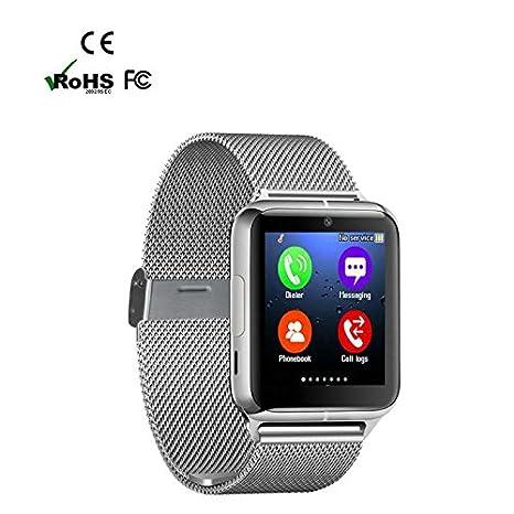 Reloj Inteligente con Pulsómetro Teléfonos Inteligentes Reloj,Call Mensaje Control/Monitor de Sueño/Cámara/Calorías/sedentario Alerta Soporte para Android ...