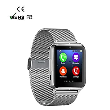 Revwtommy Smart Watch Reloj Inteligente Bluetooth Smartwatch Teléfono,Sleep Seguimiento de Calorías Pista para Actividad Diaria y Apagado Soporte para ...