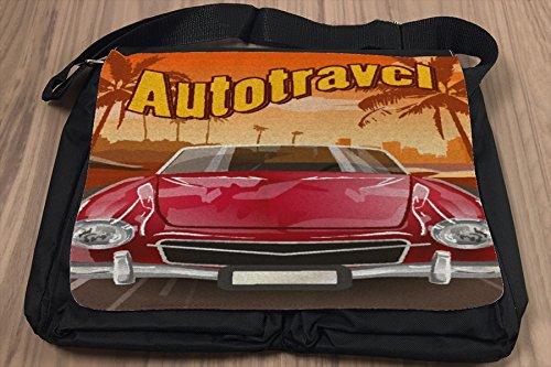 Umhänge Schulter Tasche Oldtimer Auto Autoreise bedruckt X1UyP9