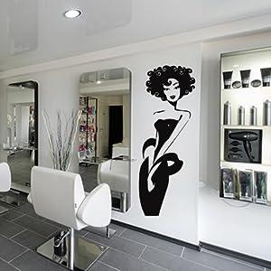 Wall decal vinyl art decor sticker design stylist master hair salon beauty fashion - Stickers salon design ...