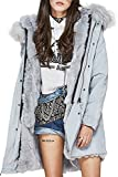 Product review for S.ROMZA Women Real Rabbit Fur Parka Upscale Long Hooded Coat Detachable Jacket Real Fur Liner