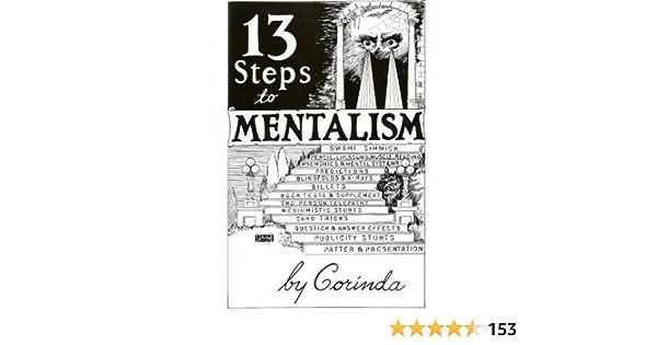 // Vintage Mentalism Instructions 1958 7 CORINDA: 13 STEPS TO MENTALISM VOL