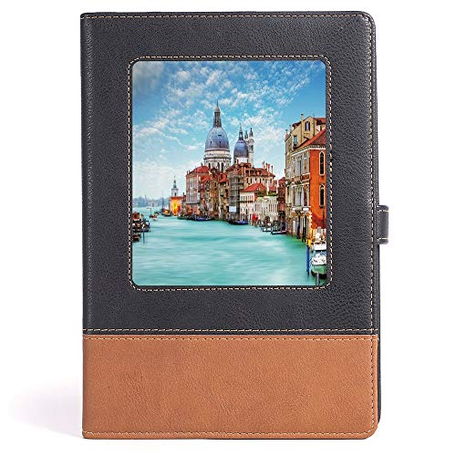 Italy - Composition Book/Notebook - Grand Canal and Basilica Santa Maria della Salute Historical Architecture - 100 Ruled Sheets - A5/6.04x8.58 in
