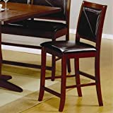 Coaster Home Furnishings 101792 Casual Counter Height Chair, Brown/Dark Brown, Set of 2 For Sale