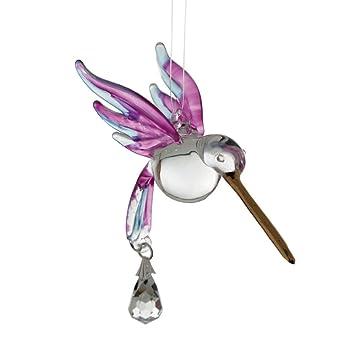 Kolibri Aus Glas Vogel Glastier Hangend Sonnenfanger Hummingbird